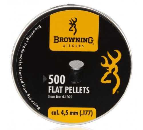 śrut 4,5 mm BROWNING płaski 500szt 4.1922 4000844498557